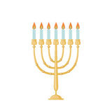 Menorah icon in flat style. Stock Photography