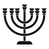 Menorah icon in simple style. On a white background vector illustration Stock Photo