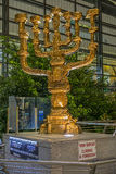 Menorah at international airport Ben Gurion Stock Images