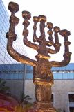 Menorah. In Israel. a seven-branched lampstand used in the ancient Tabernacle in the desert and Temple in Jerusalem Stock Photos