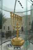 Menorah in Jeruzalem Stock Afbeelding