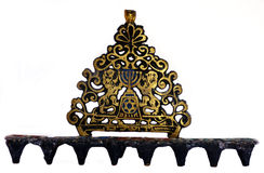 Menorah for the Jewish festival Royalty Free Stock Image
