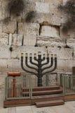 Menorah. Jewish hanukkah candle holder. Jewish hanukkah candle holder at the Western Wall.  Menorah. Jerusalem. Israel Royalty Free Stock Images