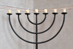 Menorah judaïque de chandelier Photographie stock