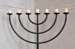 Menorah judaico de la palmatoria Fotografía de archivo