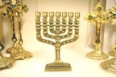 Menorah judaico do candelabro Fotos de Stock Royalty Free