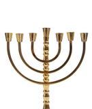 Menorah juif sur le blanc photographie stock