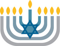 Menorah Lights Royalty Free Stock Photos