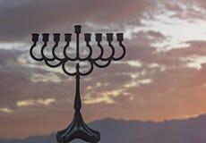 Menorah is a major traditional Jewish symbol for Hanukkah holiday Stock Image