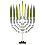 Menorah mit Kerzen Lizenzfreies Stockfoto