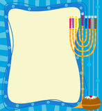 Menorah Note Royalty Free Stock Photo