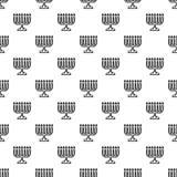 Menorah pattern seamless vector royalty free illustration