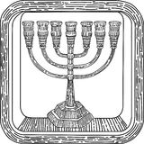 Menorah religious object in Judaism, cabbala Stock Images