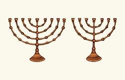 menorah Retrait de vecteur illustration stock