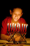menorah s de lueur Photo stock
