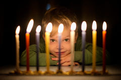Menorah's Glow royalty free stock images