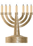 Menorah. Seven branched candlestick Stock Images