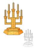 Menorah. Seven branched candlestick Stock Photos
