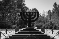 Free Menorah-shaped Monument To Jews Massacred At Babi Yar Royalty Free Stock Photo - 157885305