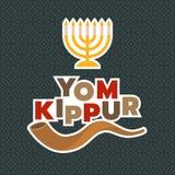 Menorah and shofar horn. For yom kippur of israel new year in rosh hashanah Royalty Free Stock Photography