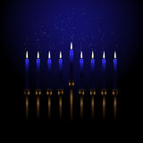 Menorah with sparks vector illustration