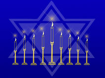 Menorah And Star Stock Image