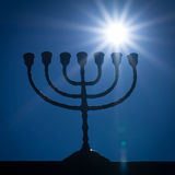 Menorah and the star Stock Photos