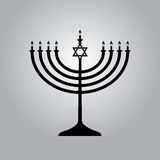 Menorah symbol of Judaism. Illustration isolated Royalty Free Stock Images
