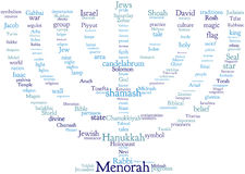 Menorah tag cloud Stock Images