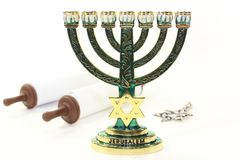Menorah and Torah Stock Images