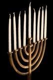 menorah unlit de hanukkah Fotografia de Stock Royalty Free