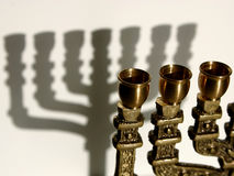 Menorah V stockfotos
