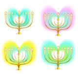 Menorahjärtafärg Royaltyfria Bilder
