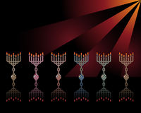 Menorahs Stock Images