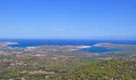 Menorca海岛视图 库存照片