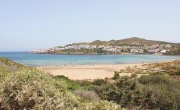Menorca海岛,拜雷阿尔斯群岛,西班牙 免版税库存照片