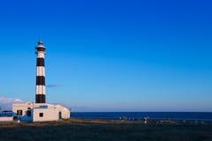 Menorca ΚΑΠ de Artrutx Lighthouse στο νοτιοδυτικό ακρωτήριο Στοκ Εικόνες
