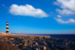 Menorca ΚΑΠ de Artrutx Lighthouse στο νοτιοδυτικό ακρωτήριο Στοκ εικόνες με δικαίωμα ελεύθερης χρήσης