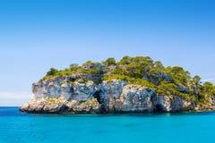 Menorca海岛海峭壁 库存照片