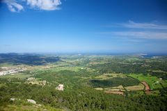 Menorca aerial view Stock Photography