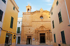 Menorca, Balearic Islands, Spain. El Roser Church in Ciutadella on July 7, 2013. El Roser Church, built in 1705, follows the guidelines of an architectural style Stock Photos