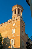 Menorca, Balearic Islands, Spain, Mahon, church, Saint Mary, decoration. The Saint Mary Church in Mahon on July 9, 2013. St. Mary's Church, build from the Royalty Free Stock Photos