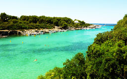 Menorca Bay. Its a nice shot in of blue bay in Menorca Royalty Free Stock Photo