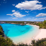 Menorca Cala Galdana Beach in Ciutadella at Balearic Stock Images