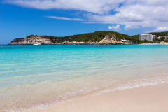 Menorca Cala Galdana Beach in Ciutadella at Balearic Royalty Free Stock Images
