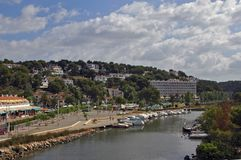 Menorca Cala Galdana Spain Foto de Stock Royalty Free