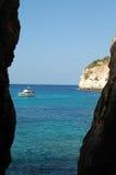 Menorca Cala Galdana Spanje Royalty-vrije Stock Afbeeldingen