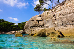 Menorca - Cala Mitjana - Spain - Balearic islands Royalty Free Stock Photos