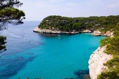 Menorca - Cala Mitjana - Spanje - de Balearen Royalty-vrije Stock Fotografie