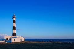 Menorca Cap de Artrutx Lighthouse in southwest cape Stock Photo